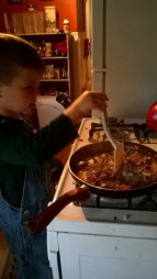 Cooking, 5 years old